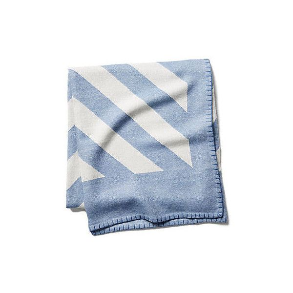 Grinda Throw Periwinkle Throws 450 Liked On Polyvore Featuring Home Bed Nautical Blanketschevron