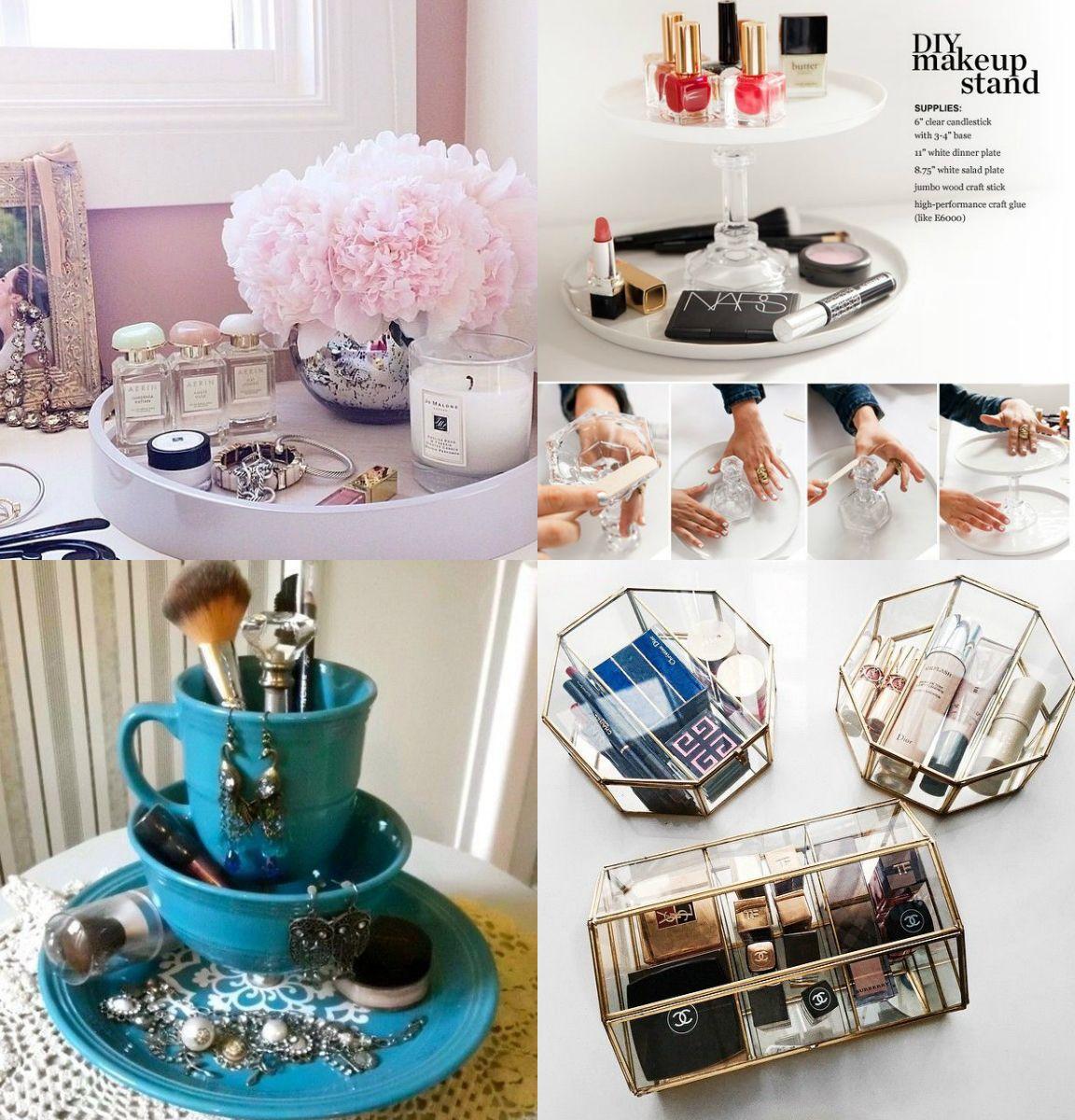 25 formas geniais e fofas de organizar as maquiagens sem gastar quase nada :O http://www.comoserdiva.com/2016/01/25-formas-geniais-de-organizar-suas.html
