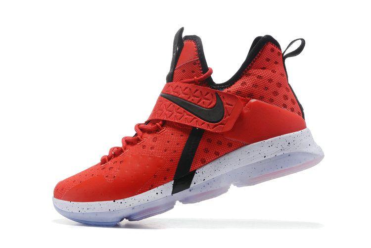 new product 2f412 4c03b Lebron Basketball Shoes 2017 For Men Size US 7-13 Nike Lebron 14 XIV University  Red Black White