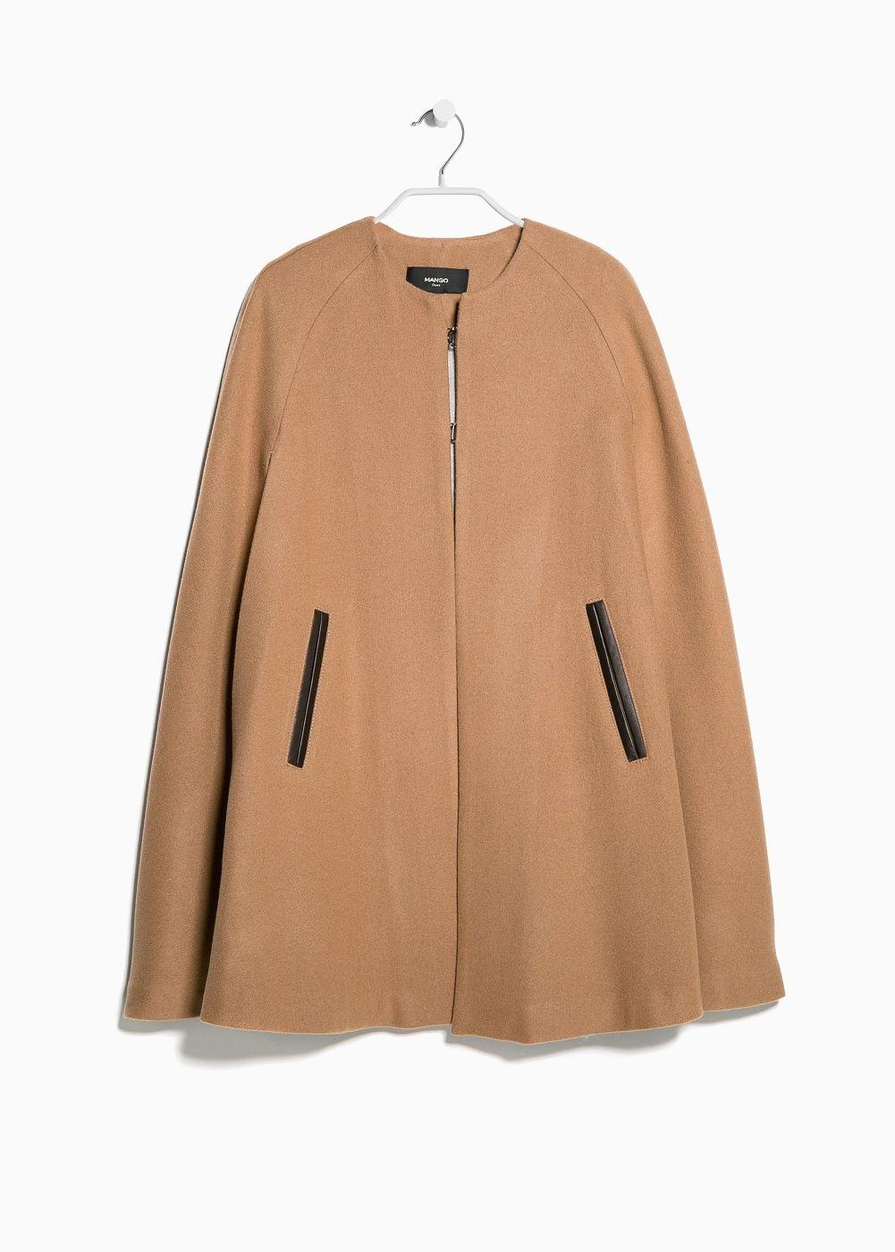 7f4db4307dbc Trimmed wool-blend cape - Women