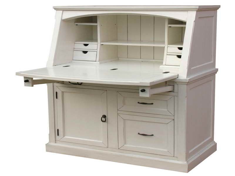 Coastal Secretary Desks For Small Spaces Desks For Small Spaces Small Secretary Desk White Secretary Desk
