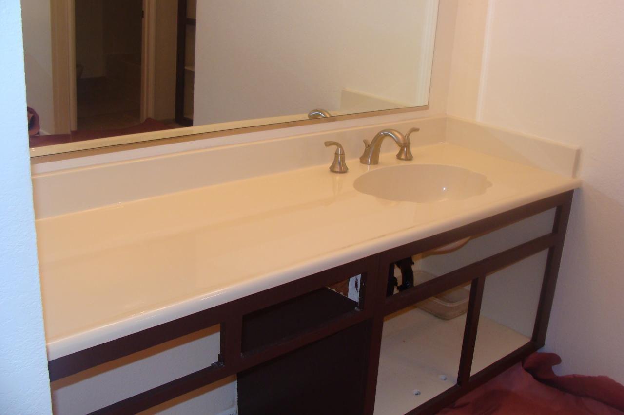 PKB Reglazing : Cultured Marble Countertop U0026 Sink Combo Reglazed Bone