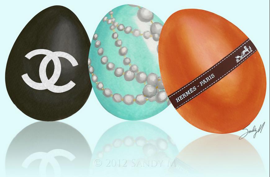 Designer Easter Eggs! Chanel & Hermes