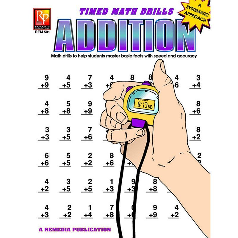 Timed math facts addition | Math, Math facts and Teaching ideas