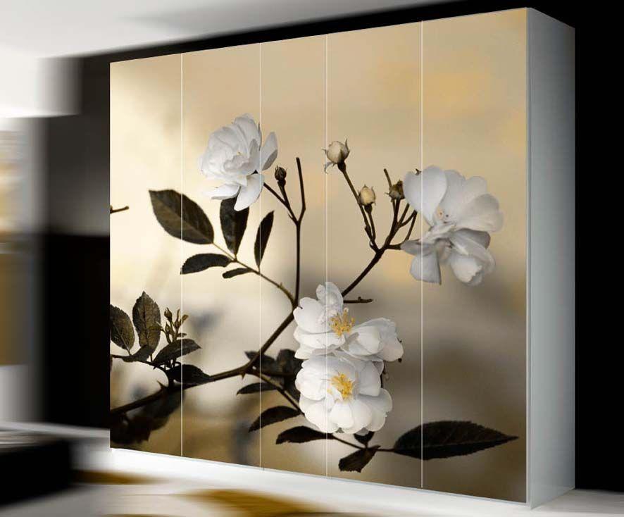 Murales de puertas y armarios mod almendro decoracion - Vinilos puertas armarios ...