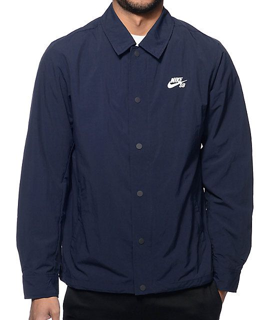 498913030 Nike SB Navy Coach Jacket