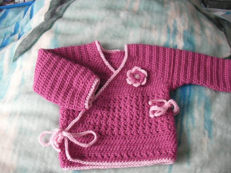 Baby Kimono wrap, free pattern from Crochet Me (free members site ...