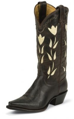 Womens Justin Goat Boots Dark Chocolate #Vjl451