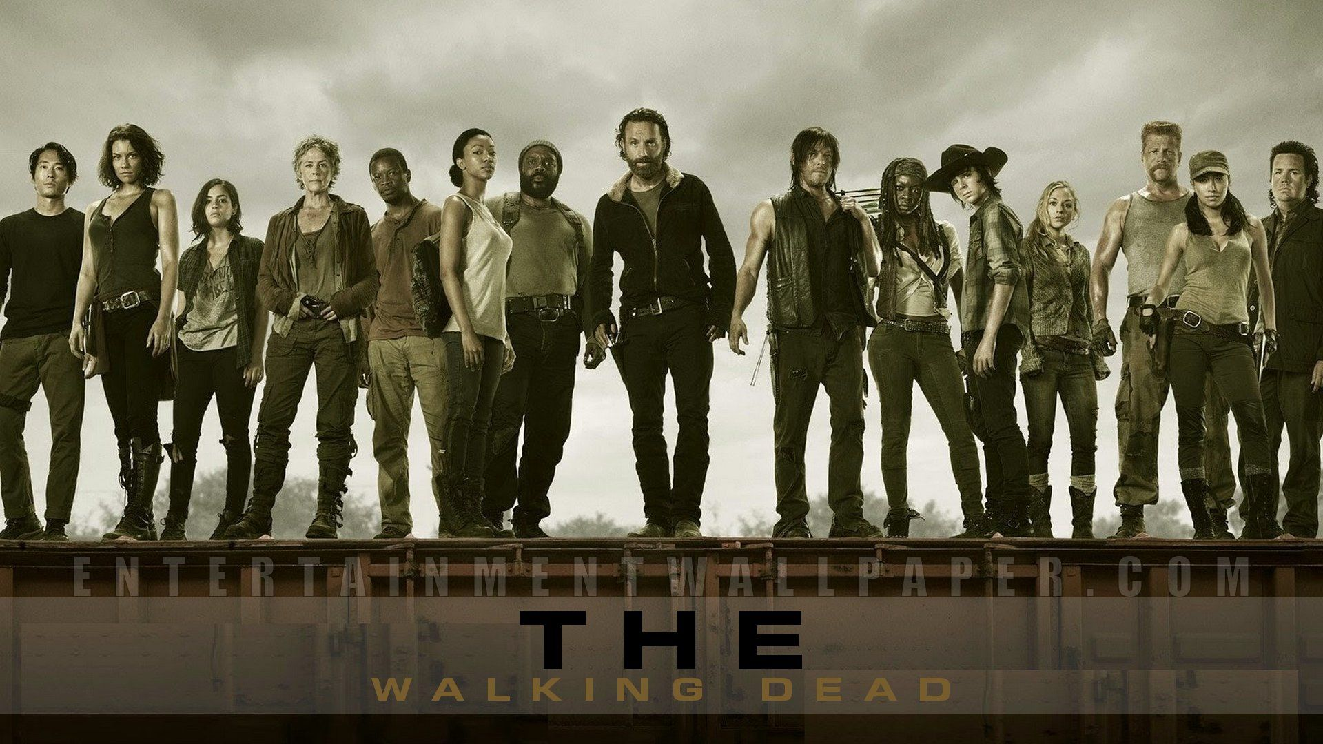 1 Cast From The Walking Dead Walking Dead Wallpaper The Walking