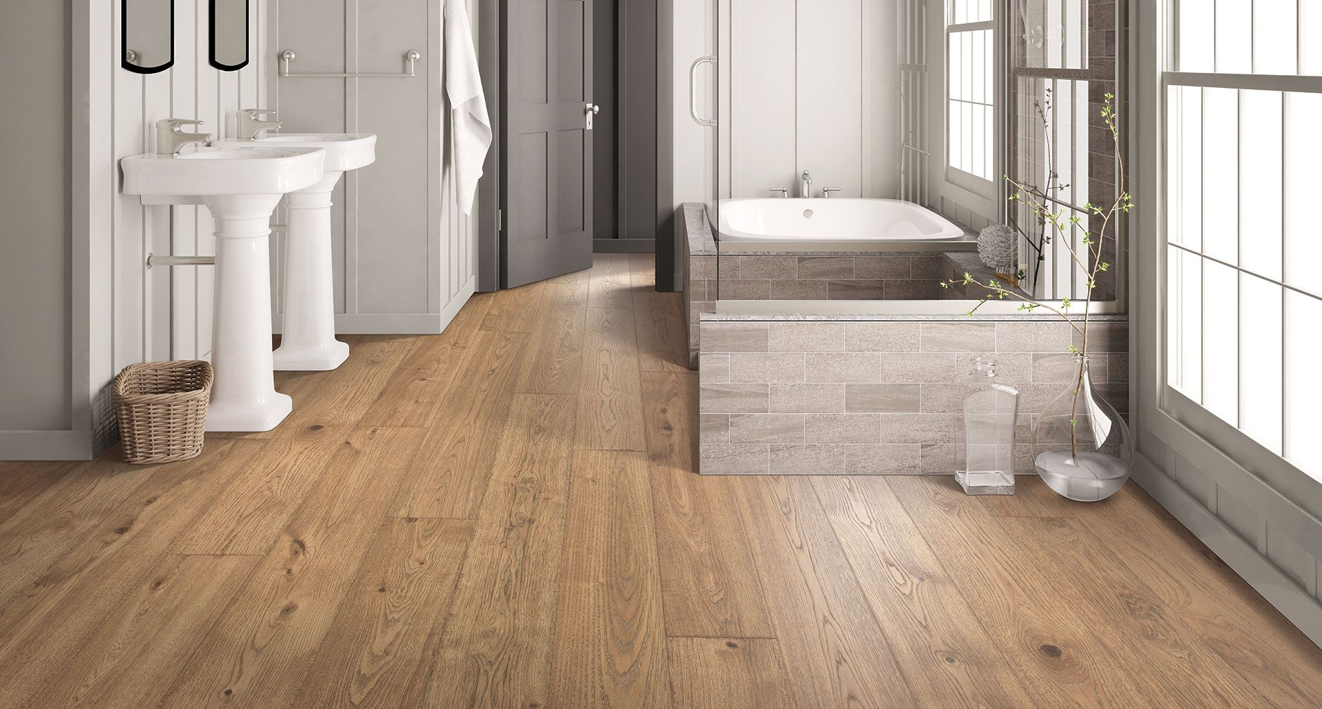 Brier Creek Oak Laminate Floor Natural Wood Look 12mm Thick 1 Strip Plank Laminate Flooring Oak Laminate Flooring Oak Laminate Waterproof Laminate Flooring