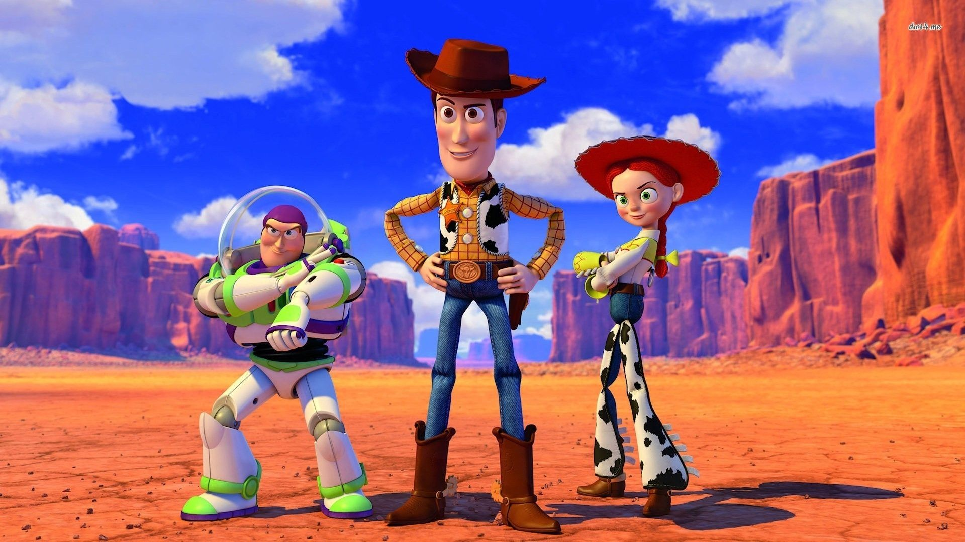 Buzz Lightyear, Sheriff Woody, and Jessie, Toy Story