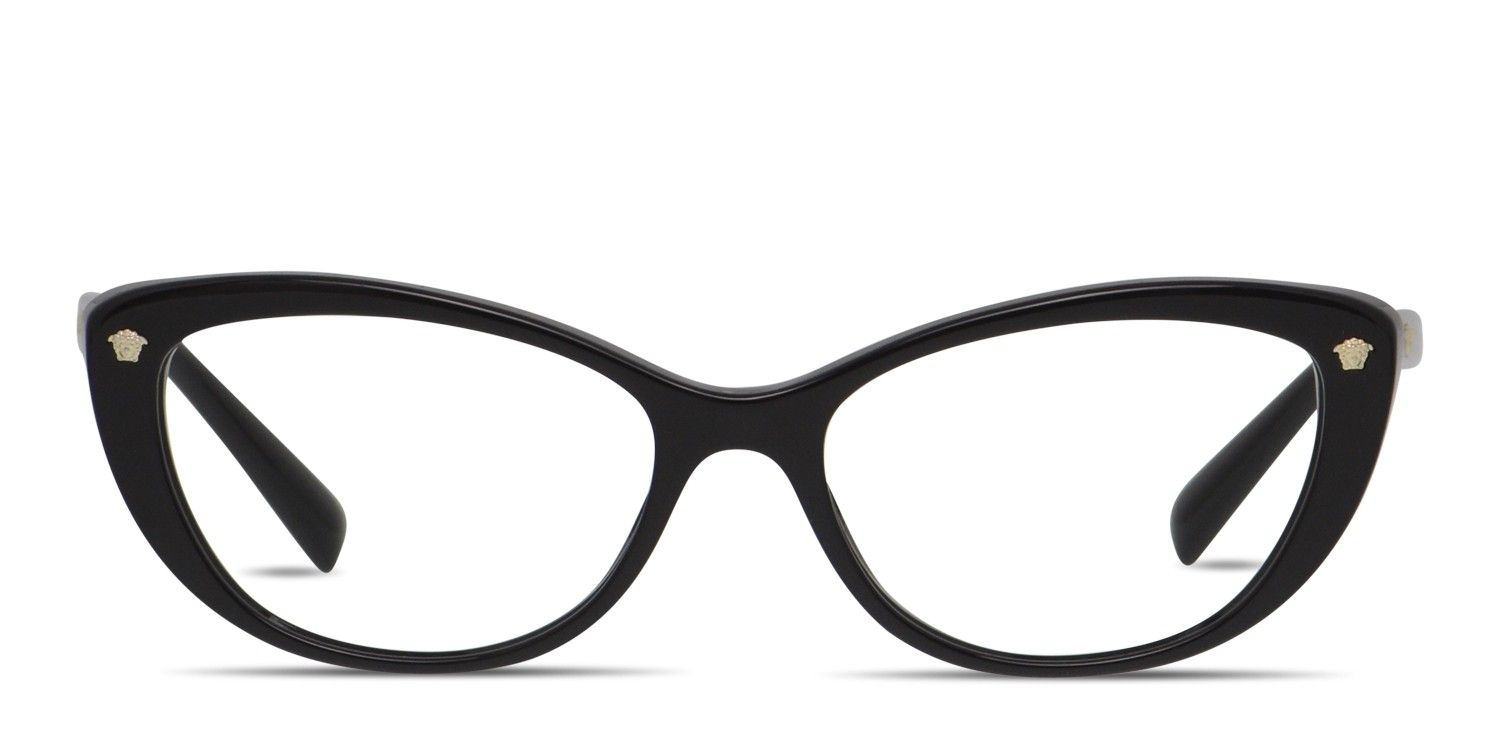 5cbedcd133 The Versace VE3258 is a flamboyant cat-eye frame with undeniable presence.  Crafted from polished acetate