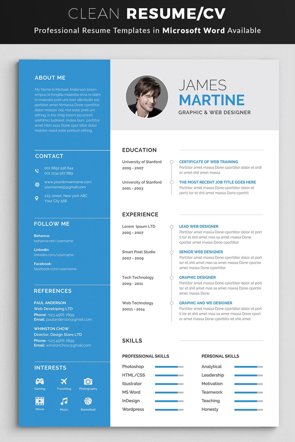 Resume Resume template professional, Resume template