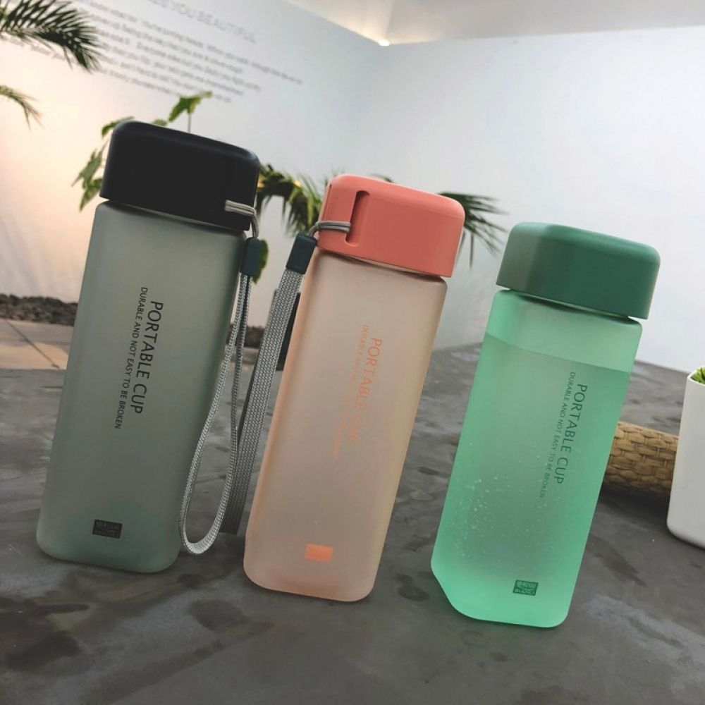 Fashion Plastic Water Bottle Square Shape