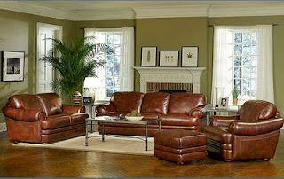 Burgundy Leather Sofa Brown Living Room Decor Living Room Colors Leather Living Room Furniture