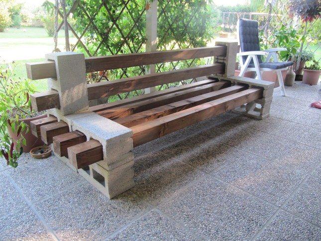 Risultati immagini per panchine con blocchi di cemento - Panchine da giardino ikea ...
