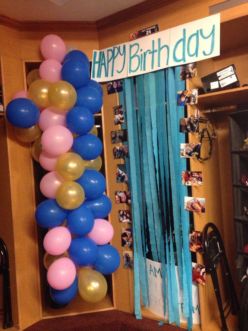 Basketball locker best friend girl birthday decoration idea Gift