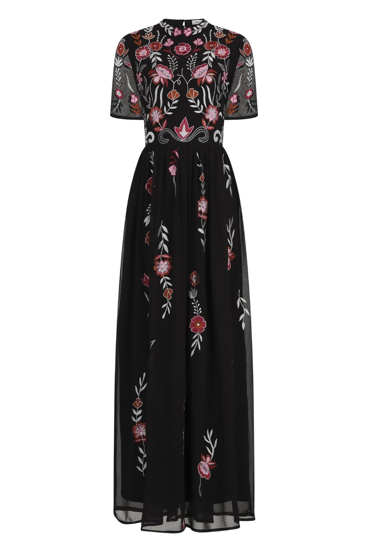 Gilana Short Sleeve Embroidered Maxi Dress Maxi Dress Embroidered Maxi Dress Dresses [ 1500 x 1000 Pixel ]