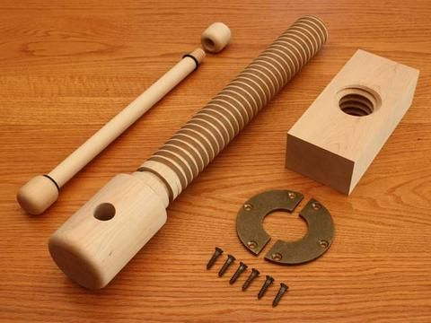 Wood Vise Screw - Premium Kit - Lake Erie Toolworks - 1