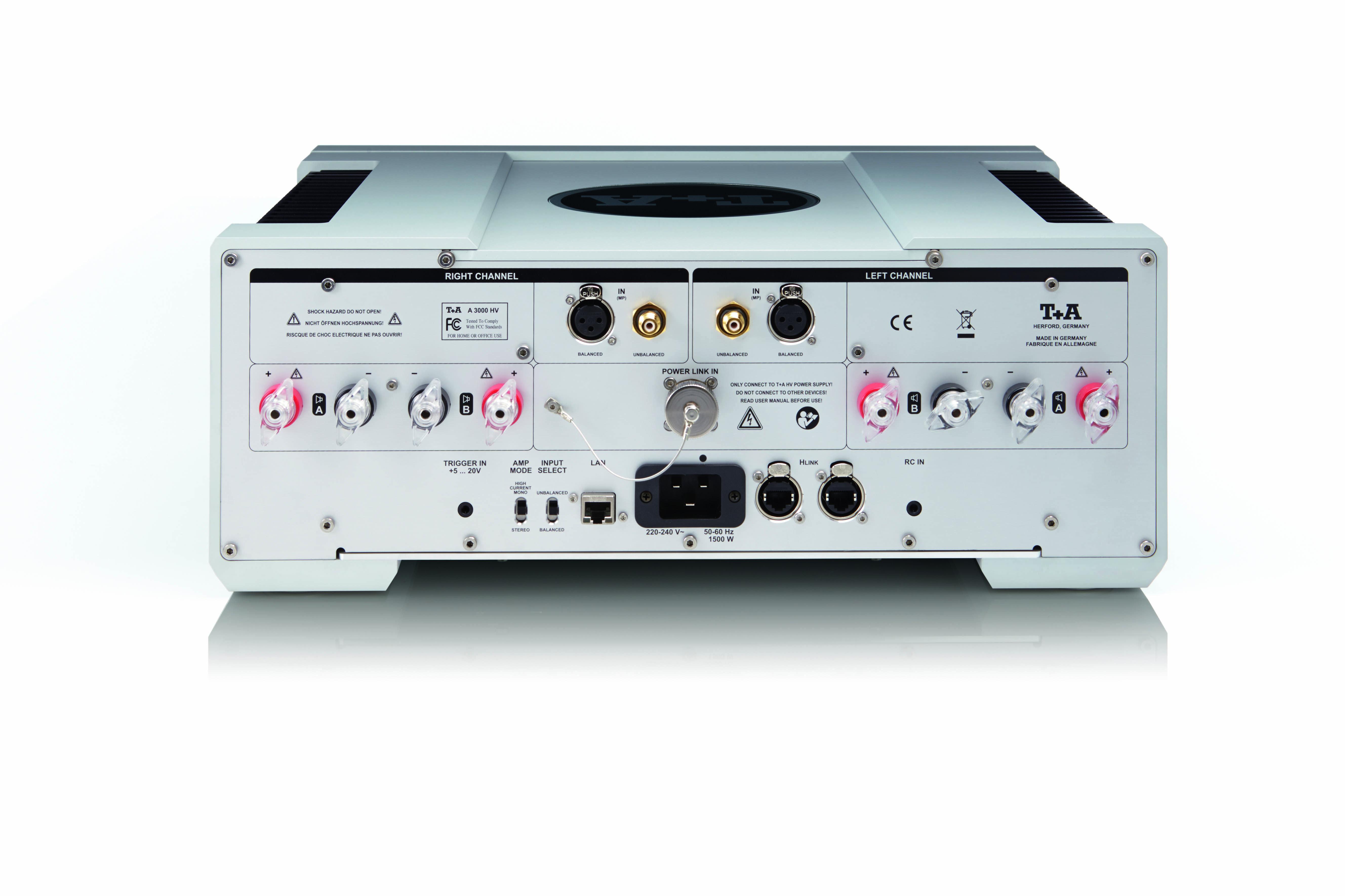T+A A 3000 HV Power Amp Rear | audio v roce 2019