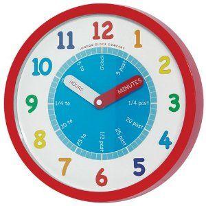 Tell The Time Teach The Time 24183 Quartz Nursery Teaching Wall Clock Learn Time Amazon Co Uk Kitchen H Clock For Kids Kids Wall Clock Childrens Wall Clock