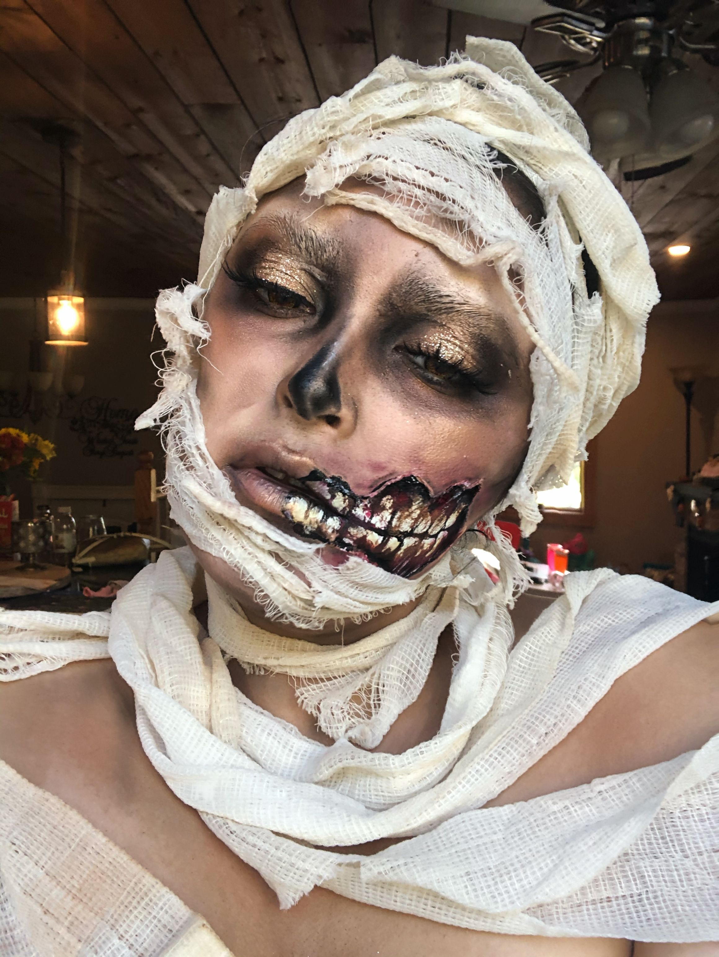 Mummy Halloween Makeup. Mummy costume special fx makeup