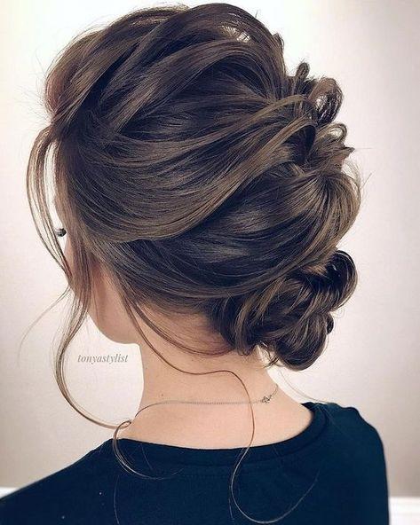 Messy Side Bun In 2020 Medium Length Hair Styles Prom Hair Medium Long Hair Updo