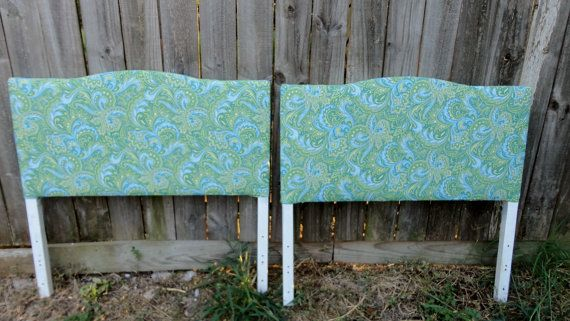 vintage twin matching headboards retro beach by PerfectlyGoodStuff