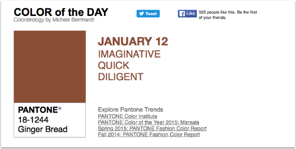 APPart – Mobile Art – Pantone Color of the Day – 'Ginger Bread' – TheAppWhisperer