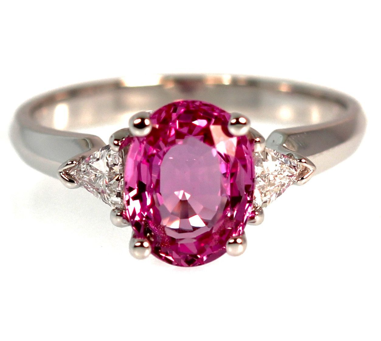 2 Carat Pink Sapphire Engagement Ring | Pink sapphire engagement ...