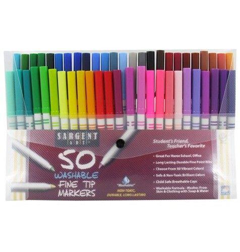 50 Fine Tip Markers Sargent Art Sargent Art Markers Teacher
