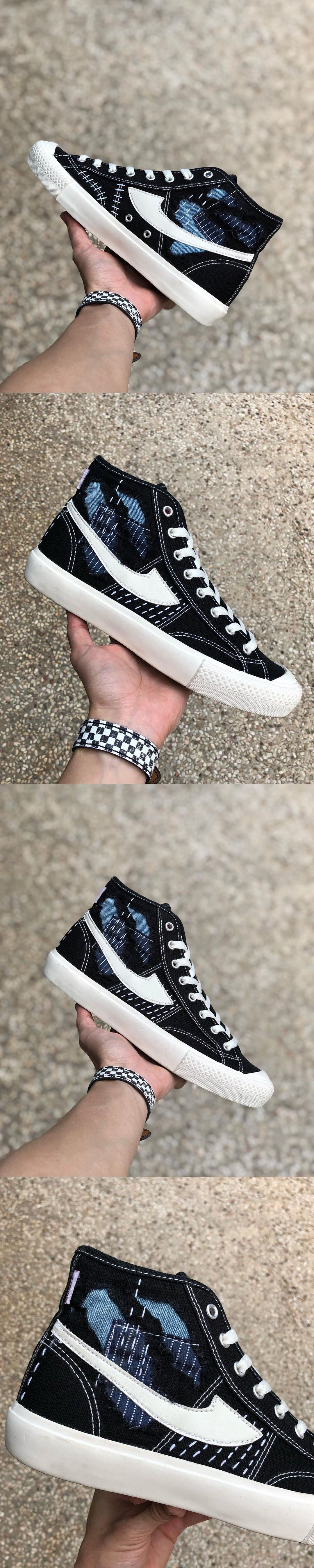 Sepatu Compass Custom Sashiko Destroy By Pattern X Di 2020 Sepatu