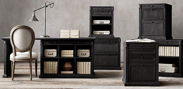 Library Collection Black Oak Drifted Rh Office Furniture Collections Home Office Furniture Oak