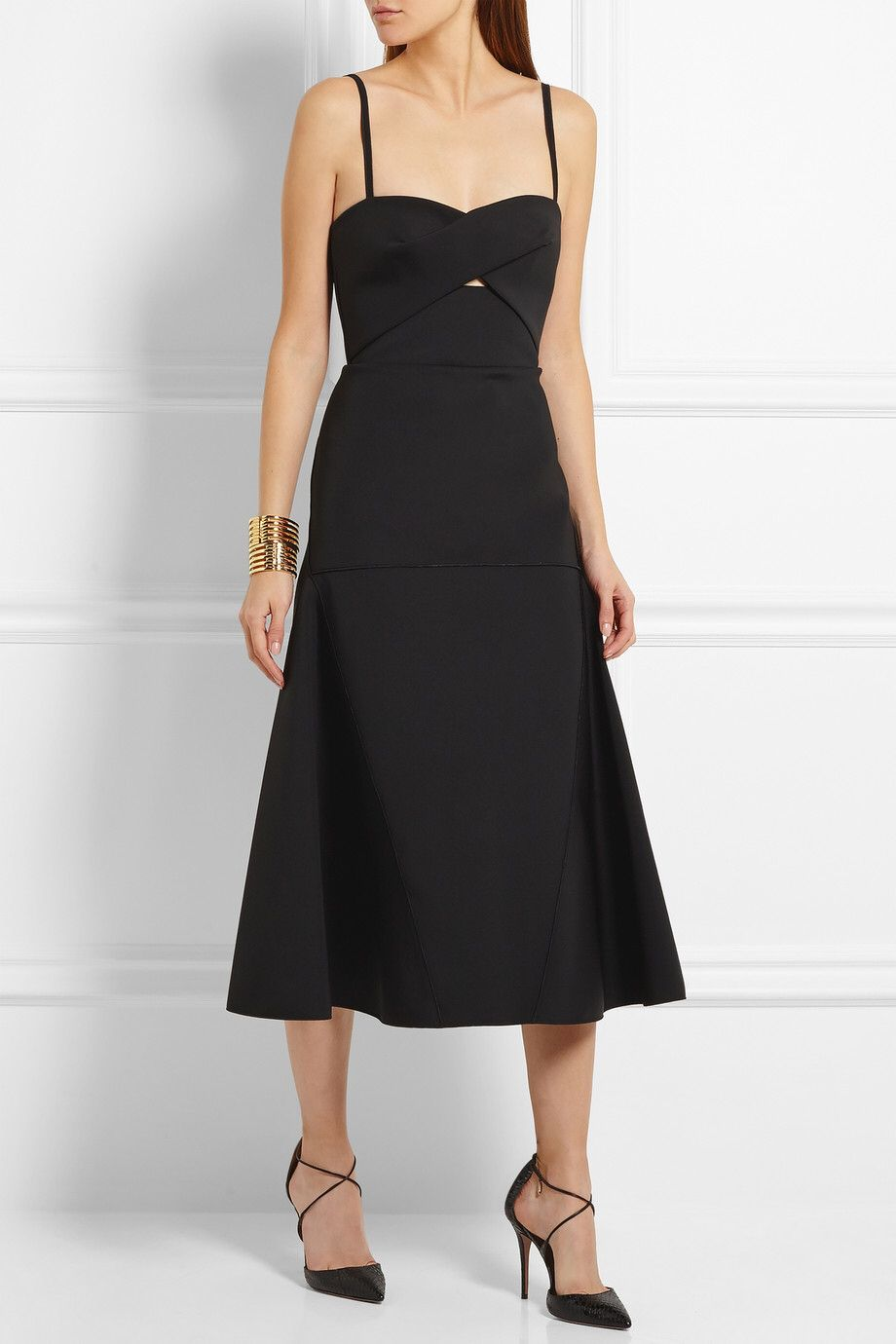 DION LEE Cutout tech-jersey midi dress $1,330.00