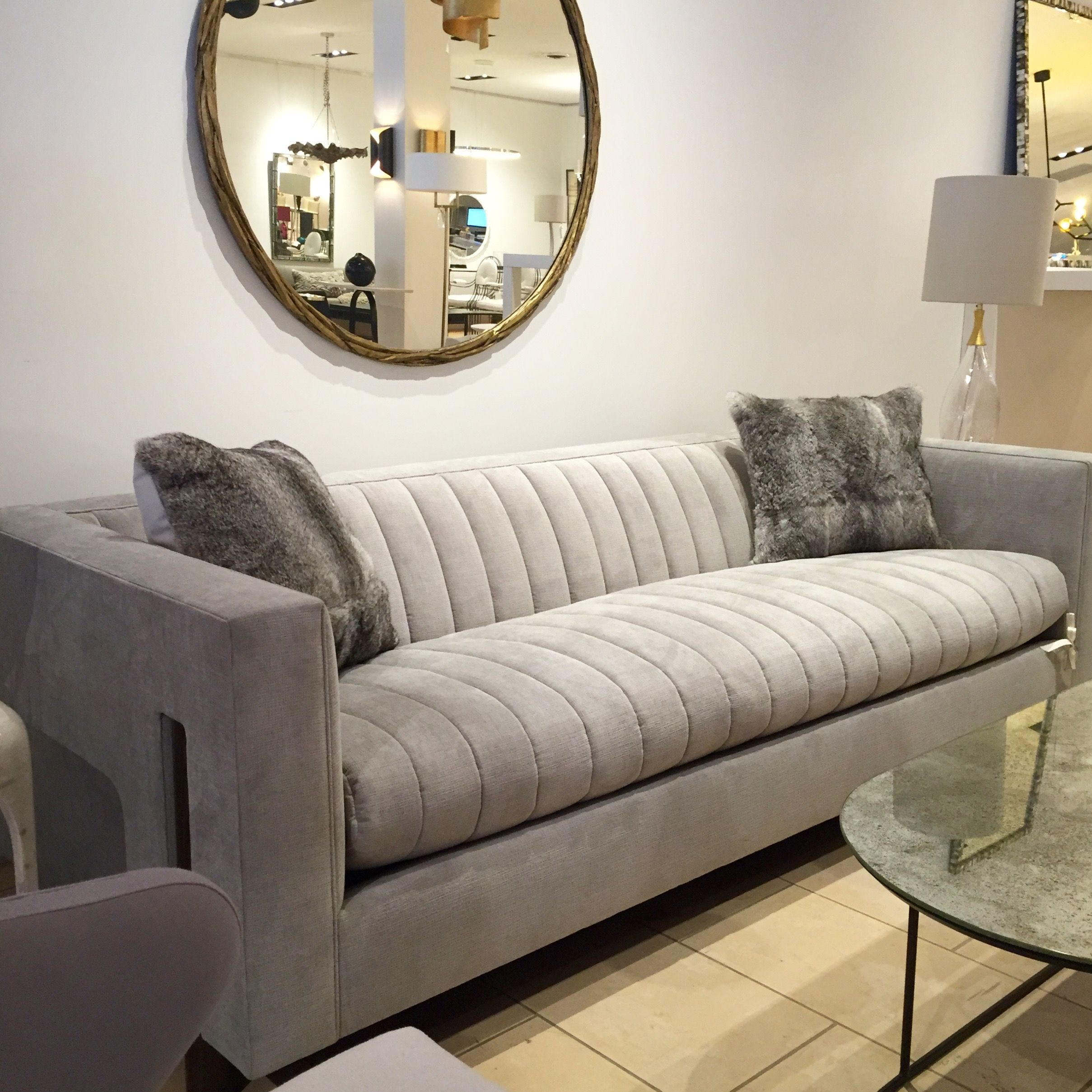 Gray Sofa by Douglas Levine for Bright Chair #SouthHillHome