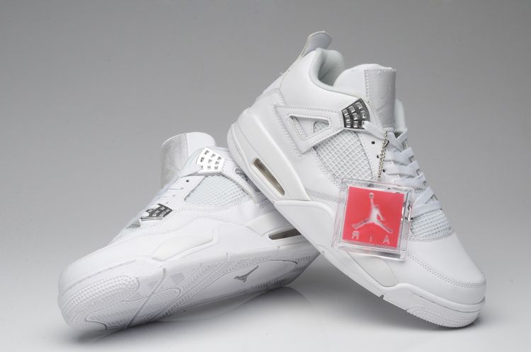 super popular 5e8f7 3ff34  109.99 Air Jordan 4 White Silver 25th Anniversary