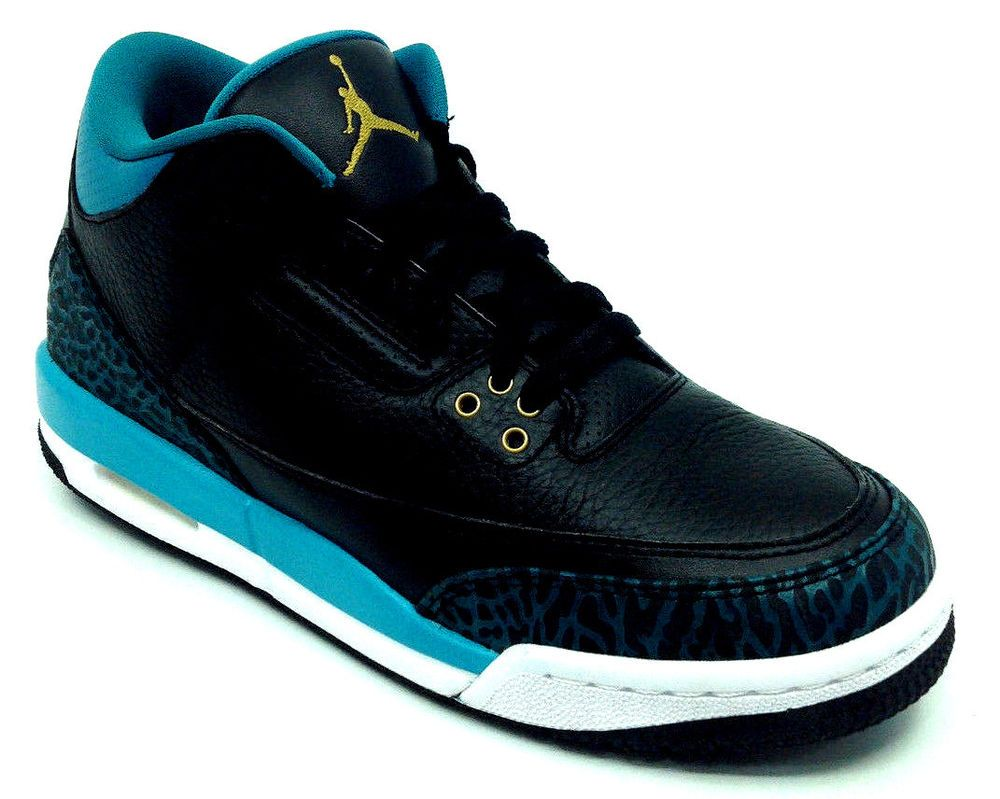 703febeb9544 ... coupon for ebay sponsored jordan air jordan 3 retro gg boys sneaker  black gold rio teal