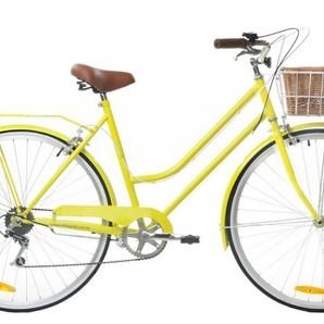 6 Speed Sunshine Yellow Vintage Ladies Bike By Reid Cycles Vintage Ladies Bike Womens Bike Bicycle Women