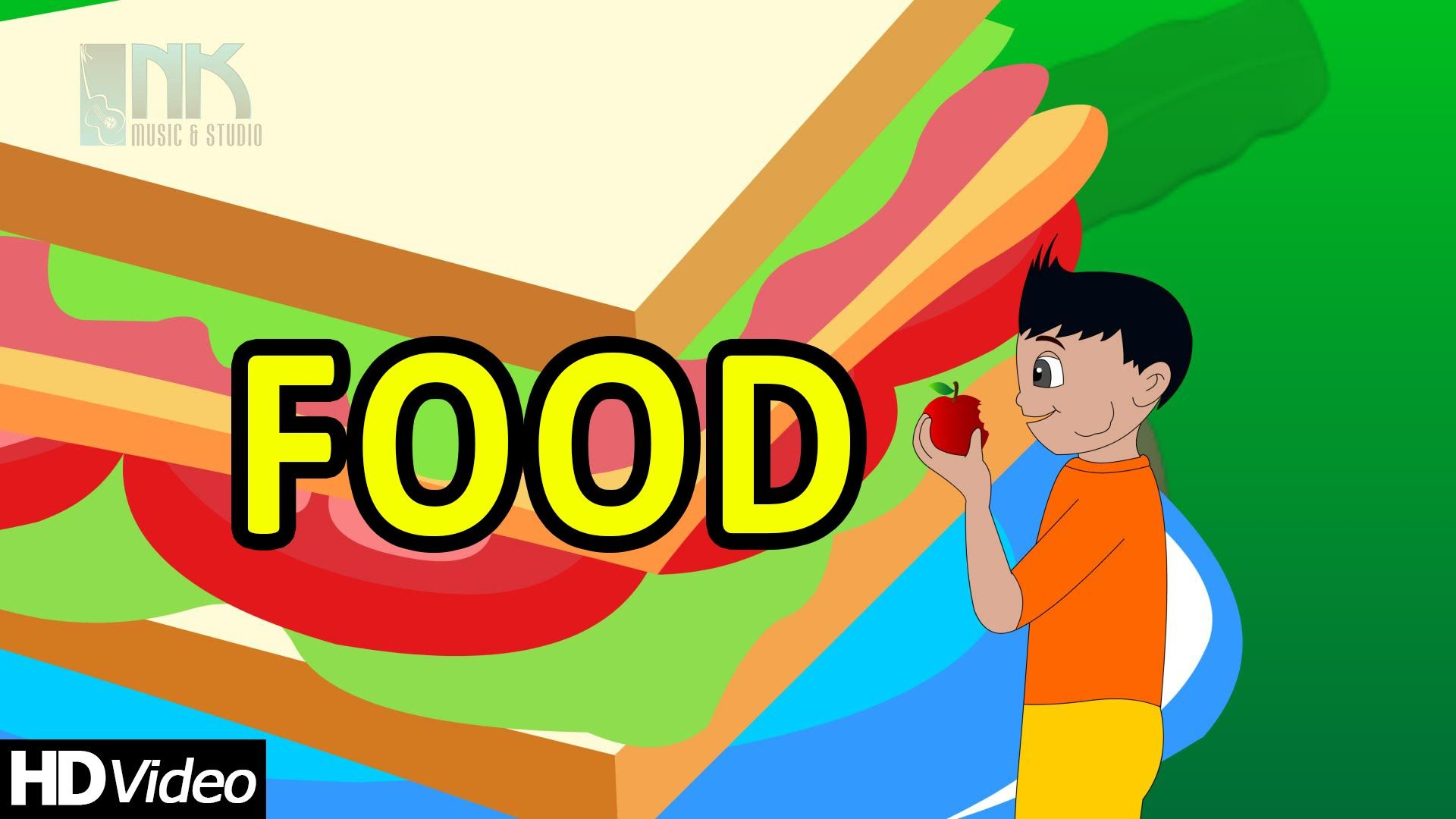 """Nursery Rhymes """"Foods Keeps You Healthy"""" Food Song for"""
