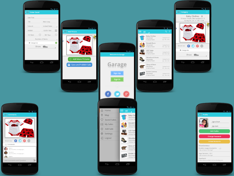 Garage Sales Android Apps Design Android Apps Design App Design Android Apps