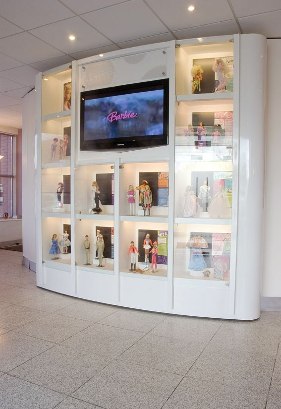 Merveilleux Display Cabinets For Collectibles | Barbie Collectibles Reception Display  Cabinet