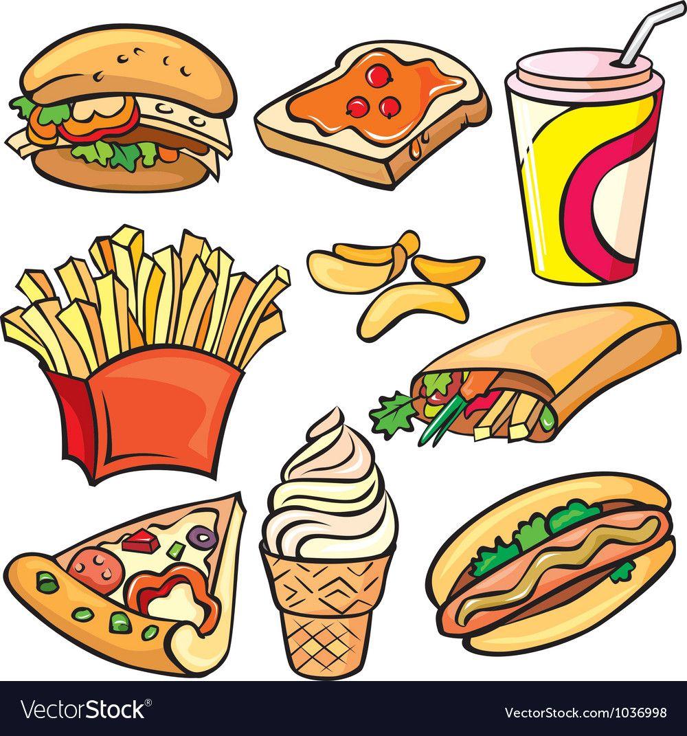 Fast Food Icon Set Vector Image On Harchuvannya Yizha