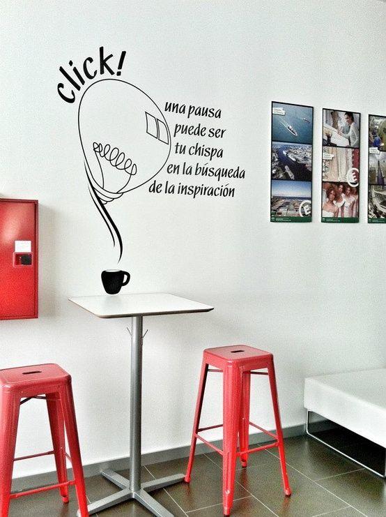 Ideas para decorar con vinilos en 2019 dise o interiores for Diseno de interiores para oficinas pequenas
