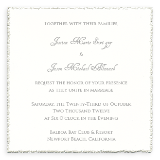 6 1 4 Square Deckle Edge Invitation Frosted White Wedding Printables Blank Wedding Invitations Printable Wedding Invitations