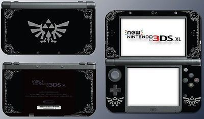 Legend of Zelda Special Edition Black Silver Skin Decal for New
