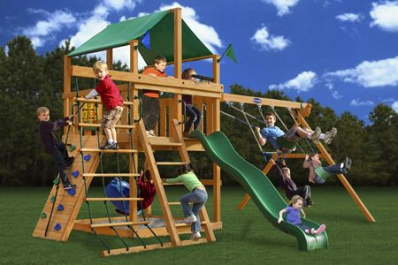 Royal Palace Wooden Swingset From Playnation Kids Moms Dads