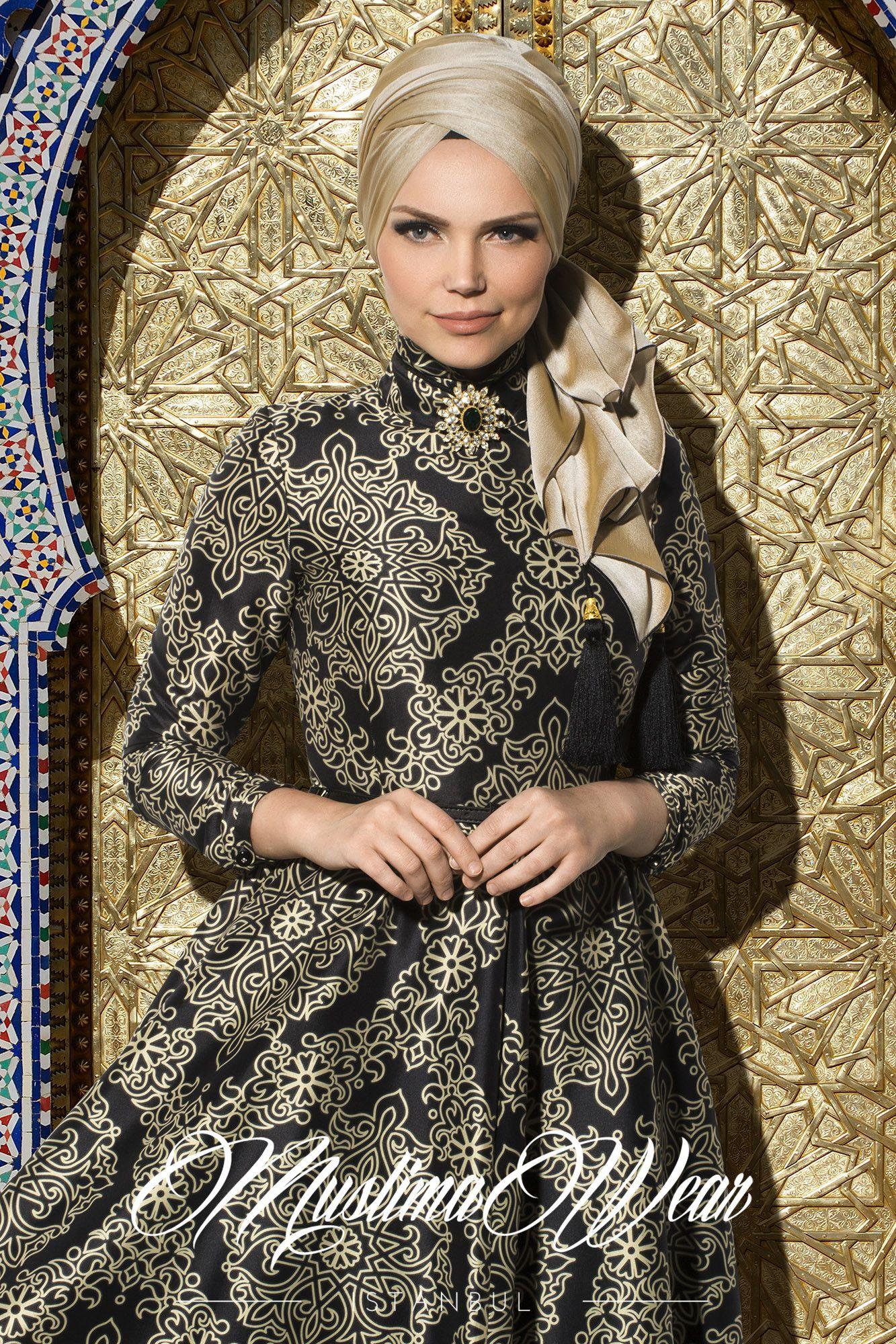 Silk Way Collection- Black Gold Dress   hijab style   Pinterest ...