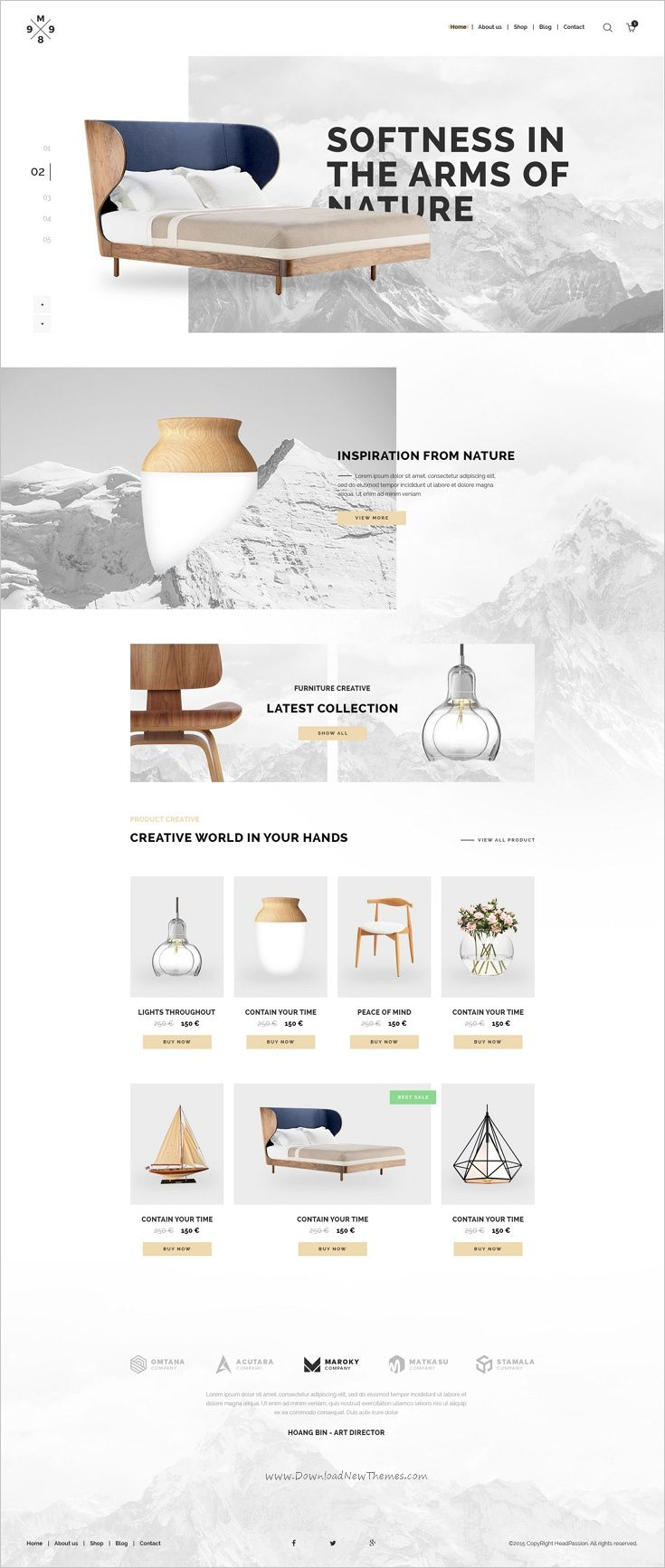 M989 Is A Clean And Modern Psd Template For Furniture Shop