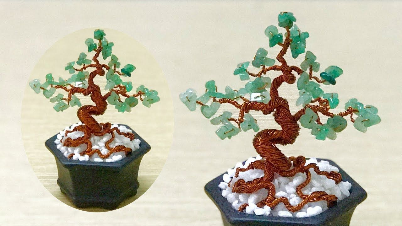 How To Make Mini Bonsai Tree Part 02 Beaded Trees Pinterest Wiring Video