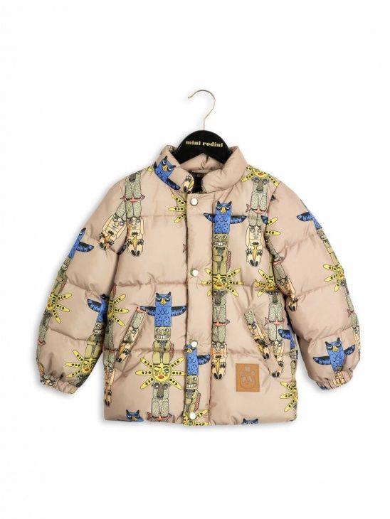 Mini Rodini AW16 Puffa Totem Jacket Beige   Barn, För barn